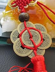 Недорогие -мода китайский узел кисточкой китай талисман талисман древние монеты подвеска автомобиля подвесные аксессуары