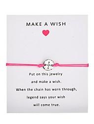 billiga -Dam Enkel slinga Handgjort Link Armband Kärlek Hoppas Trendig Armband Smycken Rosa / Ljusblå / Vinröd Till Party Dagligen