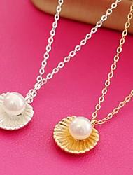 ieftine -Pentru femei Zirconiu Cubic Coliere cu Pandativ Imitație de Perle Simplu Auriu Argintiu 44 cm Coliere Bijuterii 1 buc Pentru Zilnic