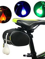 Недорогие -Светодиодная лампа Велосипедные фары Задняя подсветка на велосипед огни безопасности Горные велосипеды Велоспорт Велоспорт Водонепроницаемый Портативные Осторожно! Прочный 3000 lm RGB Красный Синий