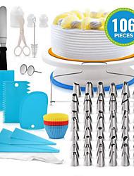 Недорогие -100шт Силикон пластик Нержавеющая сталь Многофункциональный Своими руками Торты Печенье Многофункциональный Инструменты для выпечки Инструменты для выпечки
