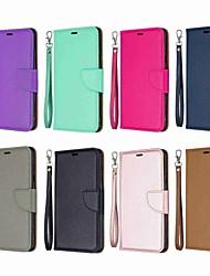 abordables -Funda Para LG LG Stylo 5 Cartera / Antigolpes / con Soporte Funda de Cuerpo Entero Un Color Dura Cuero de PU para LG Stylo 5