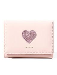 Недорогие -Жен. Пайетки PU Бумажники Сплошной цвет Розовый / Серый / Миндальный