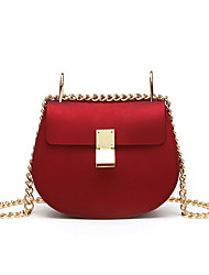 Χαμηλού Κόστους -Γυναικεία Τσάντες PU Σταυρωτή τσάντα Συμπαγές Χρώμα Μαύρο / Ρουμπίνι / Χακί