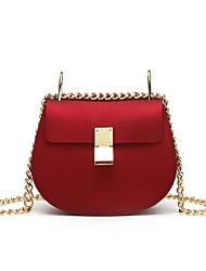 cheap -Women's Bags PU(Polyurethane) Crossbody Bag Solid Color Black / Red / Khaki