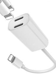 Недорогие -Подсветка Кабель От 1 до 2 Нержавеющая сталь Адаптер USB-кабеля Назначение iPhone