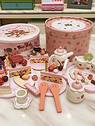 Недорогие -4шт рождения форма торта деревянный дом игры претендует игрушки
