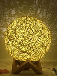 Недорогие -1шт ночной свет луна лампа желтый USB творческий<=36 v