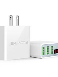 Недорогие -floveme ес / сша штекер быстрая быстрая зарядка 3 порта USB светодиодный цифровой дисплей с поддержкой телефона / стола и других устройств (белый)