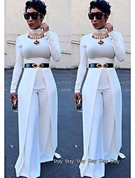 abordables -Mujer Blanco Negro Rojo Mono, Un Color M L XL
