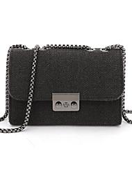 Χαμηλού Κόστους -Γυναικεία Τσάντες PU Σταυρωτή τσάντα Συμπαγές Χρώμα Μαύρο / Γκρίζο / Αμύγδαλο