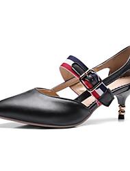 Недорогие -Жен. Полиуретан Весна лето Обувь на каблуках На шпильке Белый / Черный / Красный