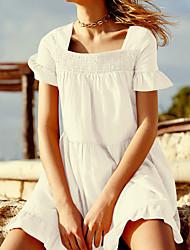 ราคาถูก -สำหรับผู้หญิง พื้นฐาน ขาว ผ้าพันผมสตรี รวมด้วย ชุดว่ายน้ำ - รูปเรขาคณิต ขนาดเดียว ขาว