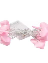 Недорогие -3 м гирлянды розовые в форме сердца 20 светодиодов валентинки украшения спальни белый аа с питанием от батареи 1 комплект