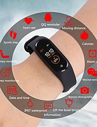 Недорогие -Indear M4 Мужчина женщина Умный браслет Android iOS Bluetooth Водонепроницаемый Сенсорный экран Пульсомер Измерение кровяного давления Спорт