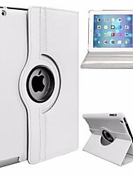 Недорогие -Кейс для Назначение Apple iPad (2017) / iPad Pro 9.7 Поворот на 360° / Защита от пыли / со стендом Чехол Однотонный Твердый Кожа PU / ПК для iPad (2017) / iPad Pro 9.7''