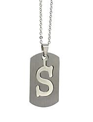 ieftine -Bărbați Pentru femei Argintiu X Coliere cu Pandativ Charm Colier Teak Alphabet Shape Vintage Cool Încântător Argintiu 50 cm Coliere Bijuterii 1 buc Pentru Zilnic