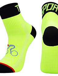 Недорогие -Компрессионные носки Спортивные носки / спортивные носки Толстые короткие носки Носки для велоспорта Муж. Футбол Велосипедный спорт / Велоспорт Велоспорт Дышащий Пригодно для носки 1 пара Зима