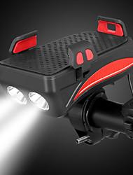Недорогие -Светодиодная лампа Велосипедные фары Передняя фара для велосипеда LED Горные велосипеды Велоспорт Водонепроницаемый Безопасность Портативные Литий-полимерная 400 lm Перезаряжаемая батарея