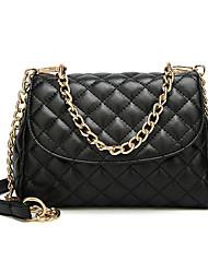 Χαμηλού Κόστους -Γυναικεία Τσάντες PU Σταυρωτή τσάντα Συμπαγές Χρώμα Μαύρο / Καφέ
