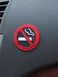Недорогие -не курить автомобильные наклейки стайлинг круглый красный знак виниловая наклейка