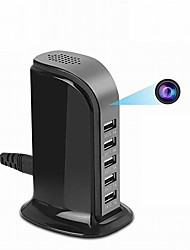 Недорогие -ht5 2-мегапиксельная ip-камера внутренняя поддержка 128 ГБ Обнаружение движения 5 USB-порт Встроенный микрофон Камера видеонаблюдения 1/4 дюйма Цветной датчик CMOS