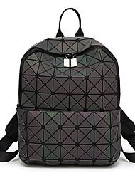 Недорогие -Жен. Мешки ПВХ рюкзак С отверстиями Геометрический рисунок Черный