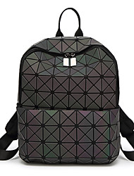 cheap -Women's Bags PVC(PolyVinyl Chloride) Commuter Backpack Hollow-out Geometric Pattern Black