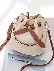 Χαμηλού Κόστους -Γυναικεία Τσάντες PU Σετ τσάντα 2 σετ Σετ τσαντών Συμπαγές Χρώμα Λευκό / Μαύρο / Ανθισμένο Ροζ