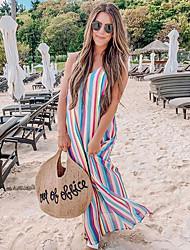 preiswerte -Damen Etuikleid Kleid - Druck, Gestreift Maxi