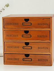 Недорогие -Коробка для хранения деревянный Античный Аксессуар 1 коробка для хранения Сумки для хранения домашних хозяйств
