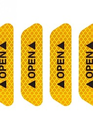Недорогие -4шт / комплект безопасности светоотражающая лента открытый знак предупреждающий знак наклейки двери автомобиля аксессуар