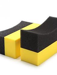 Недорогие -Авто U-образный состав для полировки шин воском Губка для очистки шин Губка дуга кромка губки