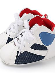 olcso -Fiú / Lány PU Csizmák Csecsemők (0-9m) / Tipegő (9m-4ys) Első cipő Fehér / Fekete / Fehér / Kék Tavasz / Ősz