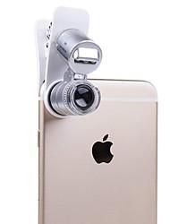 Недорогие -мобильный телефон микроскопа макрообъектив 60x оптический зум увеличитель микро камеры универсальный зажим для iphone sumgung