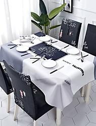 halpa -Nykyaikainen Antiikki Puuvilla polyesterikuitua Neliö Cube Table Cloths Table Linens Kukka Patterned Tulostus Ekologinen Vedenkestävä Pöytäkoristeet