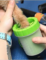 Недорогие -Собаки Коты Маленькие зверьки Чистка Полипропиленовая пряжа силикагель Ванночки Компактность Зеленый Синий 1