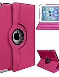 Недорогие -Кейс для Назначение Apple iPad Air Поворот на 360° / Защита от пыли / со стендом Чехол Однотонный Твердый Кожа PU / ПК для iPad Air
