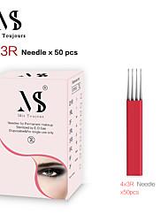 billige -50 stk. Manuelle mikrobladeråle 4x3rows 3r teboriblade hurtigt farvning til permanente sminke øjenbryn