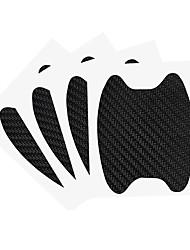 Недорогие -4 шт. / Компл. Автомобильные наклейки дверная ручка из углеродного волокна царапинам защитная мембрана