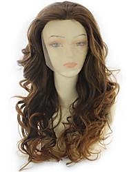 povoljno -Perike s ljudskom kosom Tijelo Wave Stil Srednji dio Lace Front Perika Zlatna Bež Sintentička kosa 24 inch Žene Žene Zlatna Perika Dug Prirodna perika