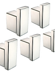cheap -Robe Hook New Design / Creative Contemporary / Modern Brass / Stainless steel / Metal 5pcs - Bathroom Wall Mounted