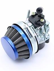 Недорогие -1 комплект мини синий воздушный фильтр гоночный карбюратор карбюратор в сборе для 37 49 60 80cc 2 тактный газ моторизованный велосипед