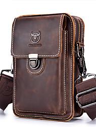 Недорогие -(bullcaptain) мужская кожаная повседневная одежда, ремень, телефон, карман, слой кожи, многофункциональная сумка через плечо