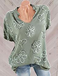 preiswerte -Damen Geometrisch Hemd Blau US12