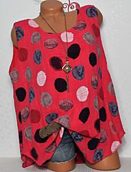 billige -Dame - Prikker Basale T-shirt Navyblå US10
