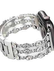 Недорогие -SmartWatch Band для Apple Watch серии 4/3/2/1 ювелирные изделия с бриллиантами ремешок iwatch
