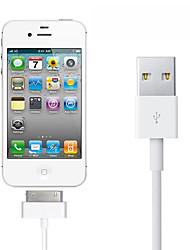 Недорогие -Подсветка Кабель Нормальная Нержавеющая сталь Адаптер USB-кабеля Назначение iPhone
