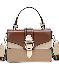 Χαμηλού Κόστους -Γυναικεία Τσάντες PU Τσάντα χειρός Συνδυασμός Χρωμάτων Αμύγδαλο / Καφέ / Κρασί