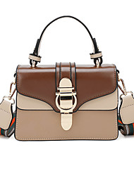 cheap -Women's Bags PU(Polyurethane) Top Handle Bag Color Block Almond / Brown / Wine